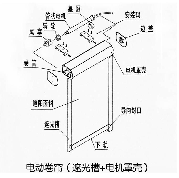 单控三相电机平面实物接线图